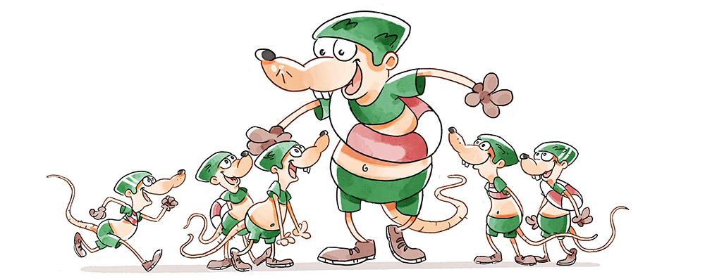 Ratte-mit-Kinder